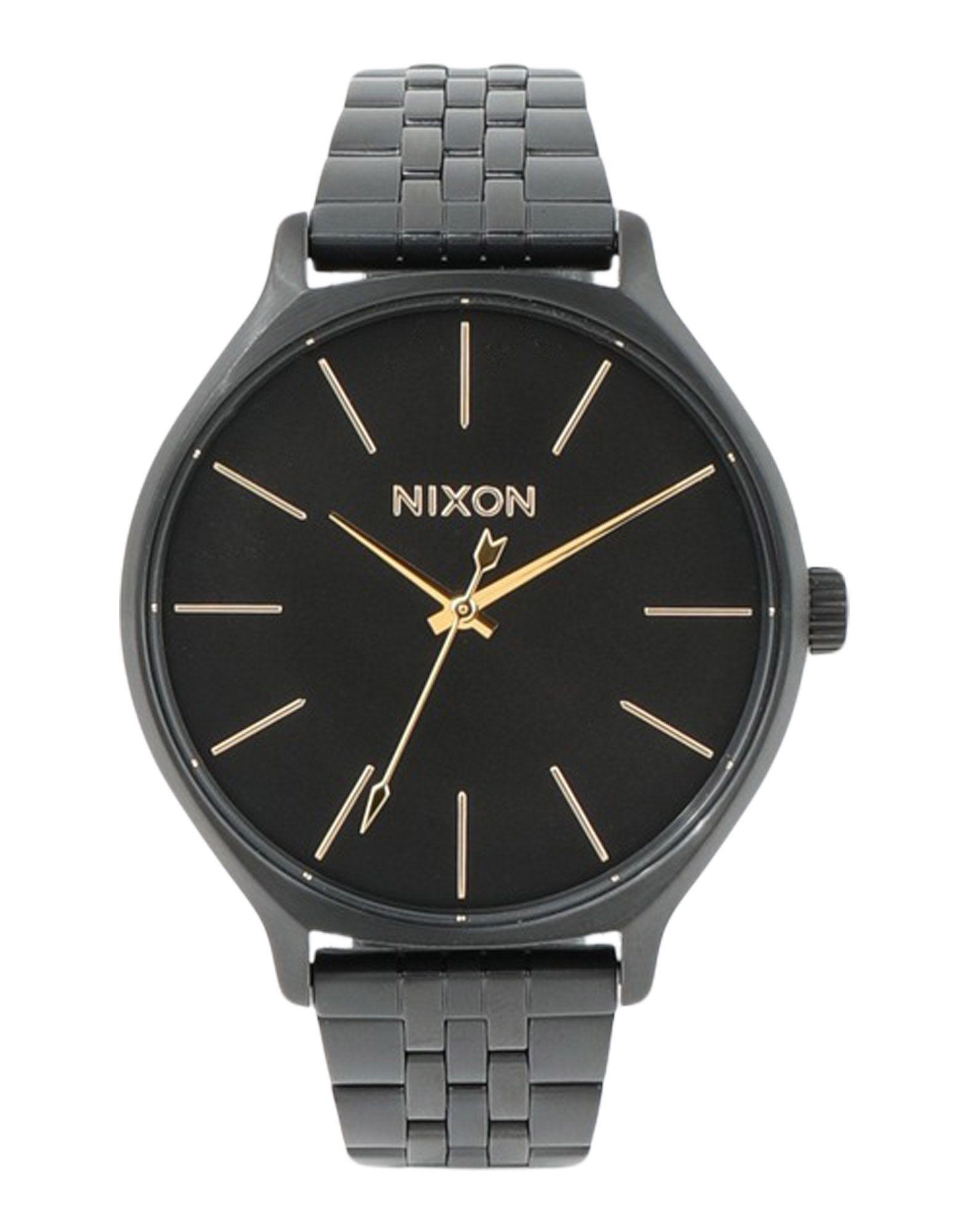 TIMEPIECES Unisex Nixon Black Stainless Steel
