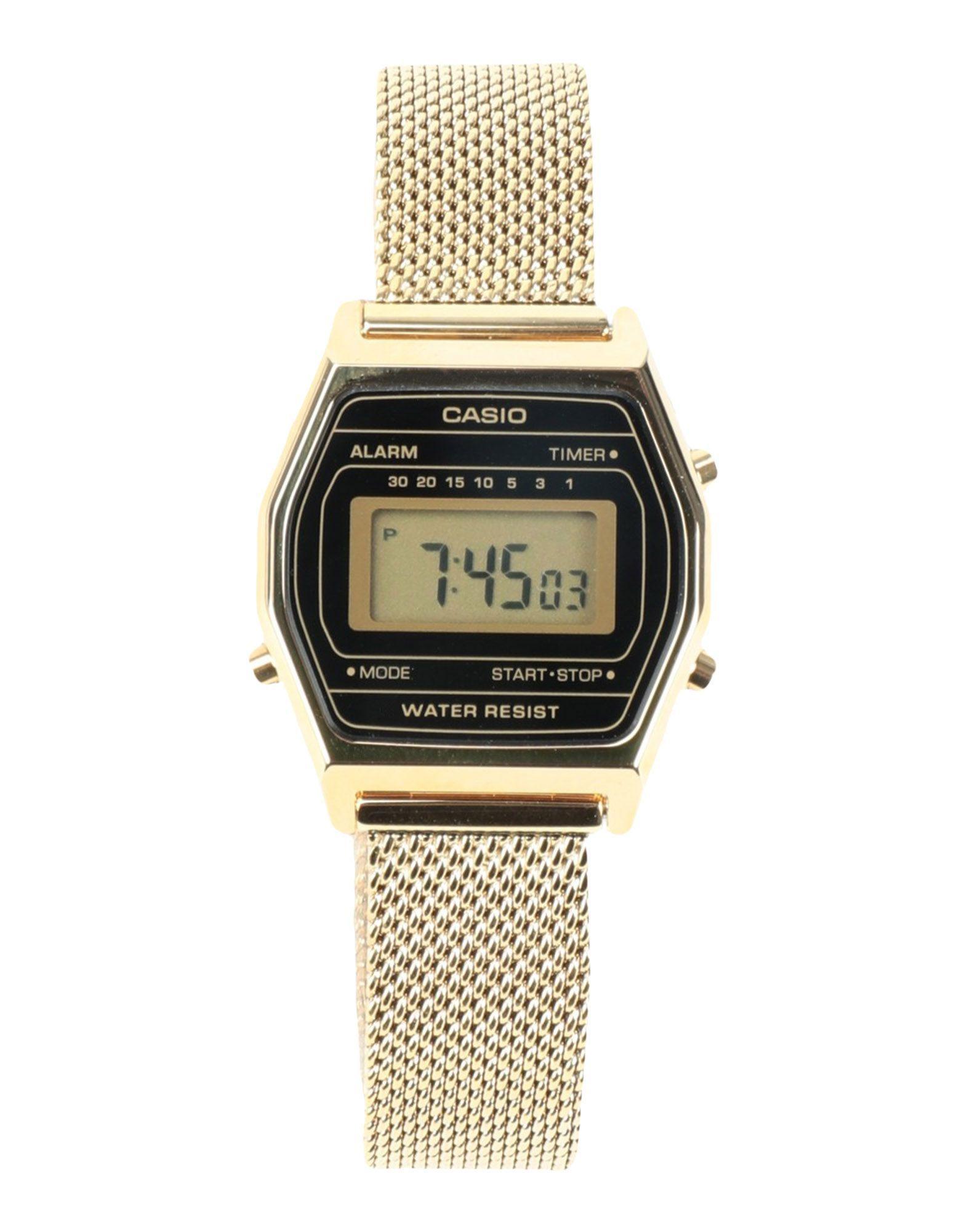 Casio Gold Stainless Steel Water Resistant Digital Watch