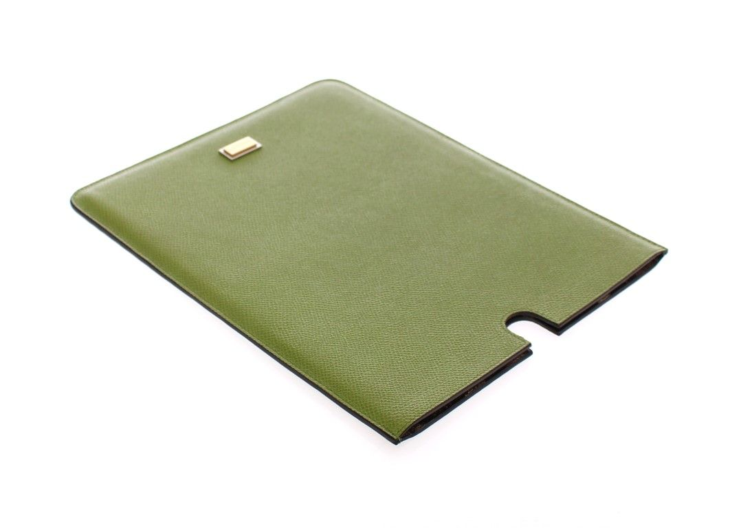 Dolce & Gabbana Green Leather iPAD Tablet eBook Cover