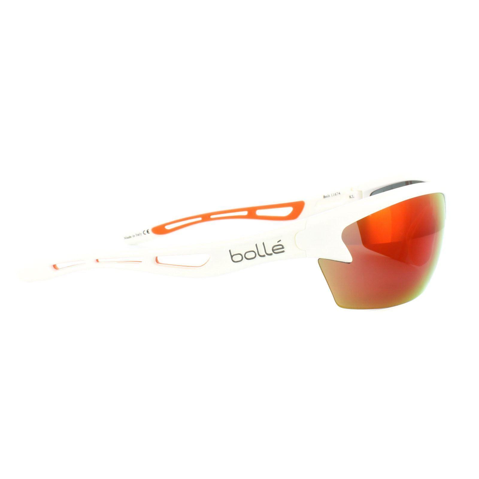 Bolle Sunglasses Bolt 11674 Shiny White TNS Fire