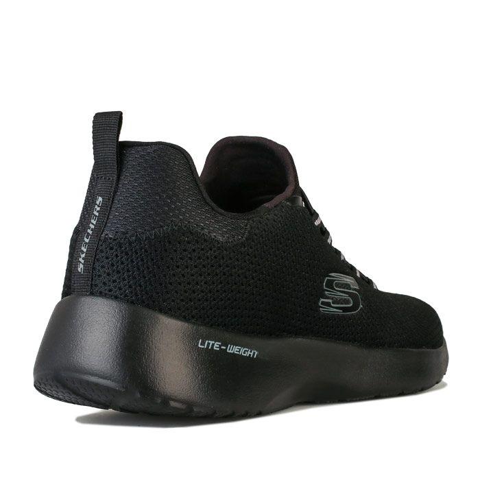 Men's Skechers Dynamight Casual Sport Trainers in Black