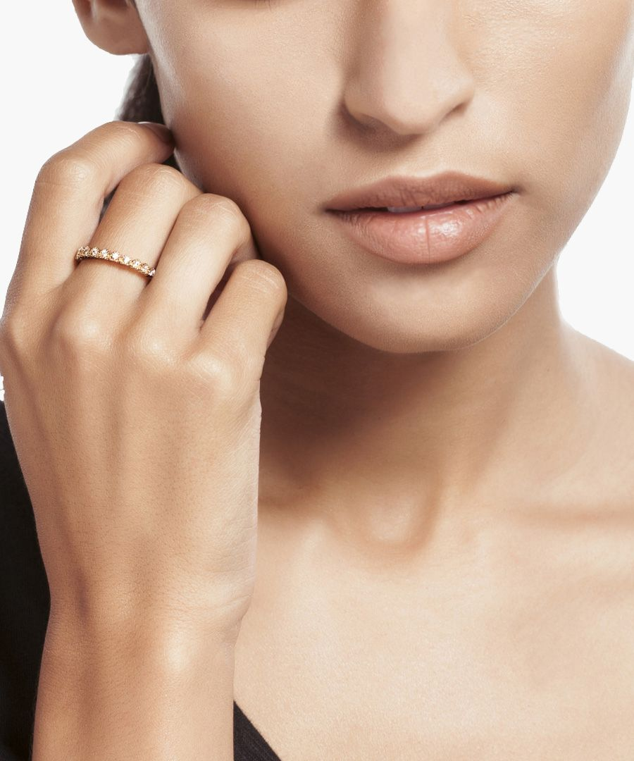 18k yellow gold-plated ring