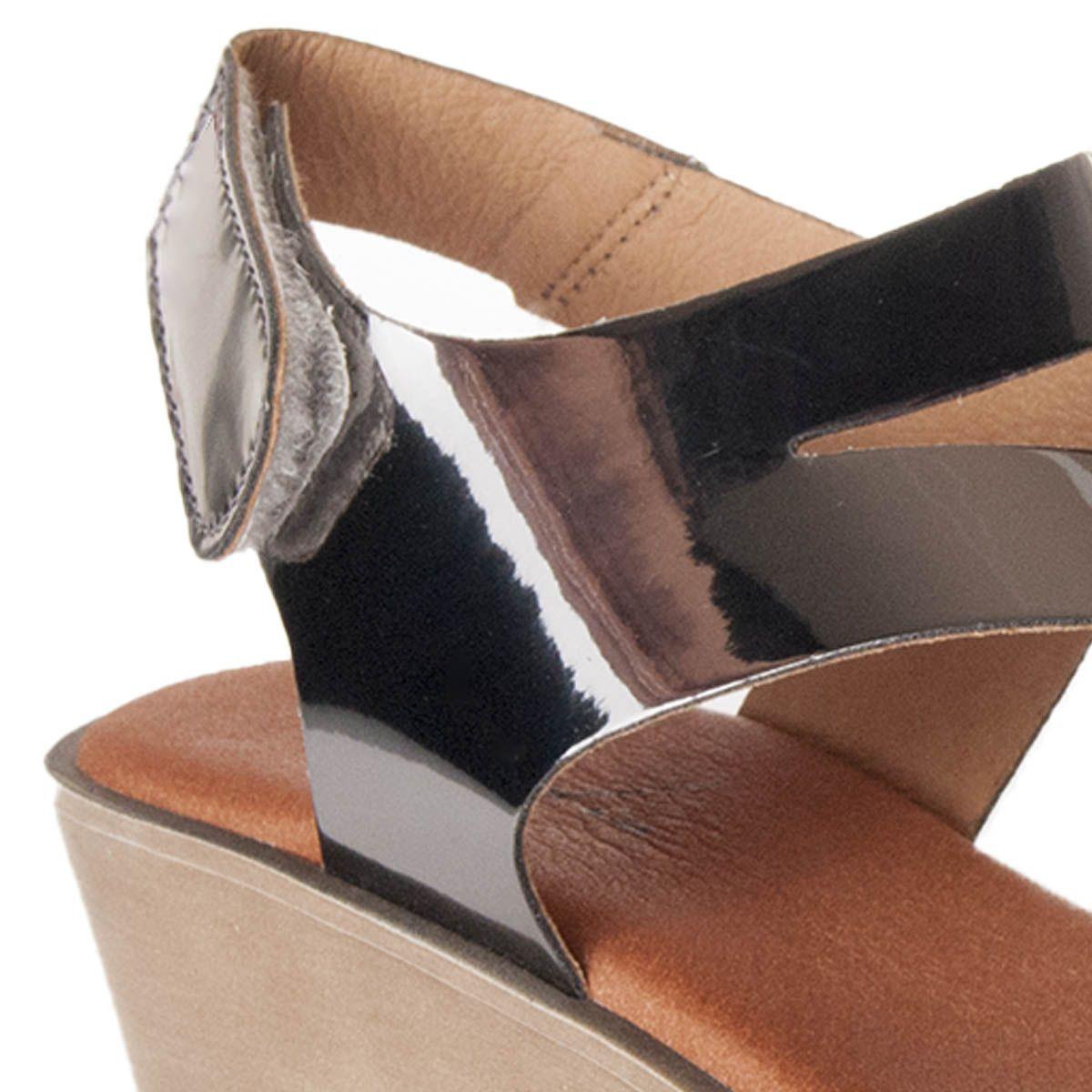 Leindia Wedge Sandal in Silver