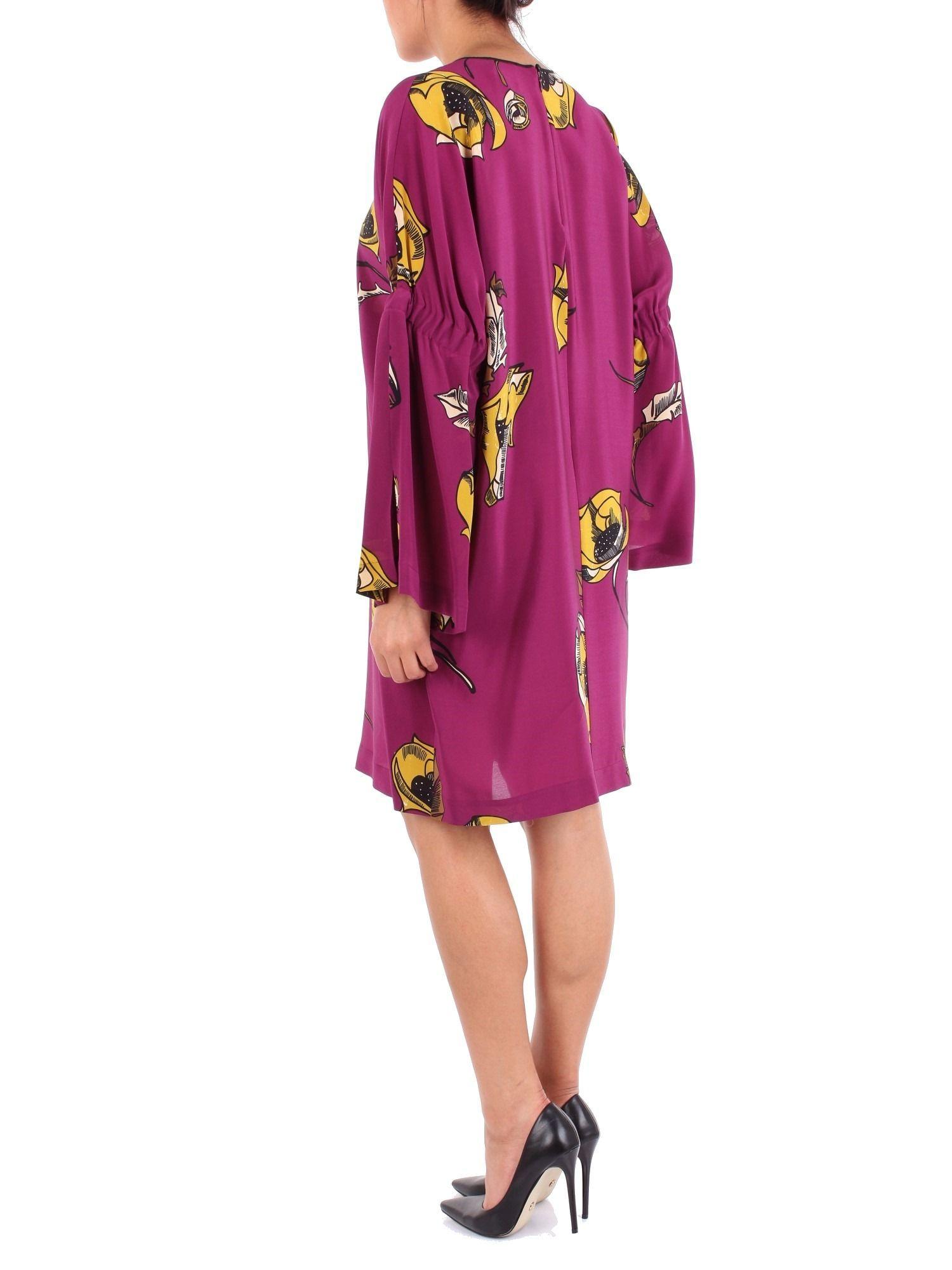 ALYSI WOMEN'S 158372A8236PURPLE PURPLE SILK DRESS