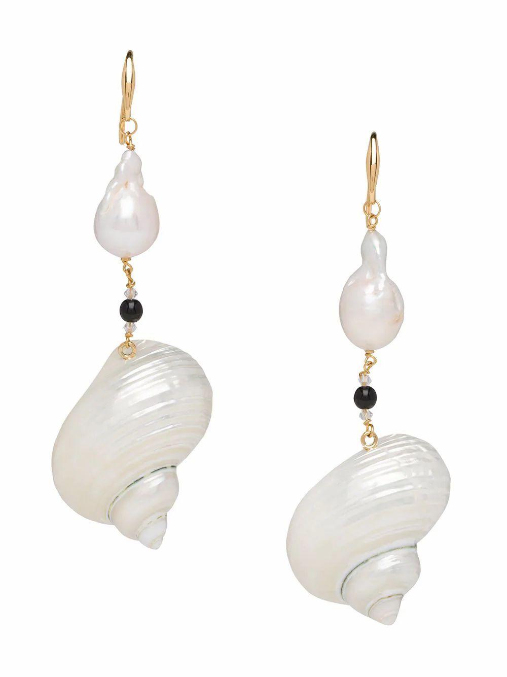 PRADA WOMEN'S 1JO6382DIZF0164 WHITE CRYSTAL EARRINGS