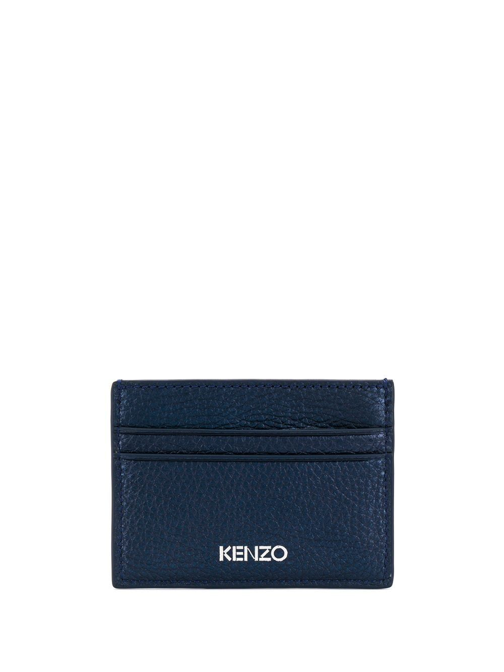 KENZO MEN'S F962PM600LP176 BLUE LEATHER CARD HOLDER