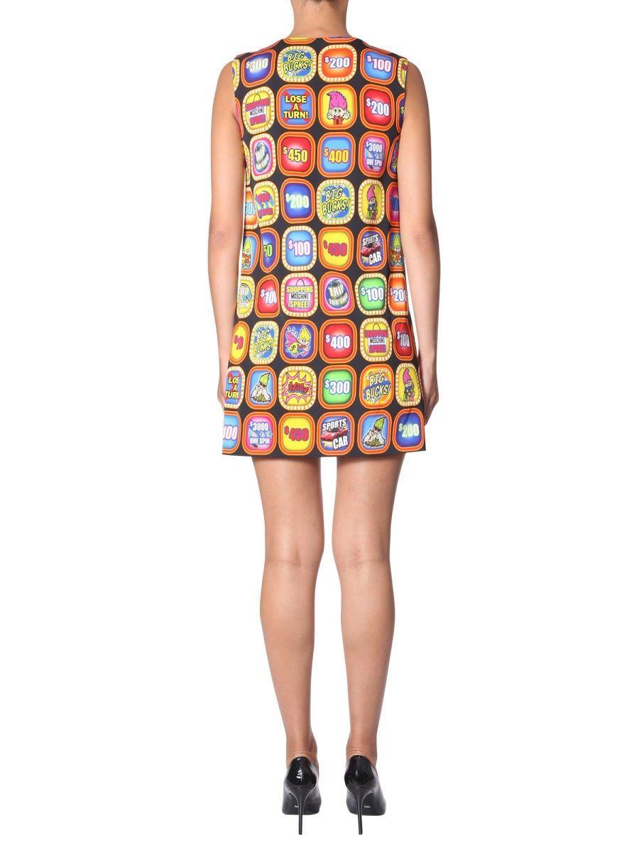 MOSCHINO WOMEN'S A044060561555 MULTICOLOR VISCOSE DRESS