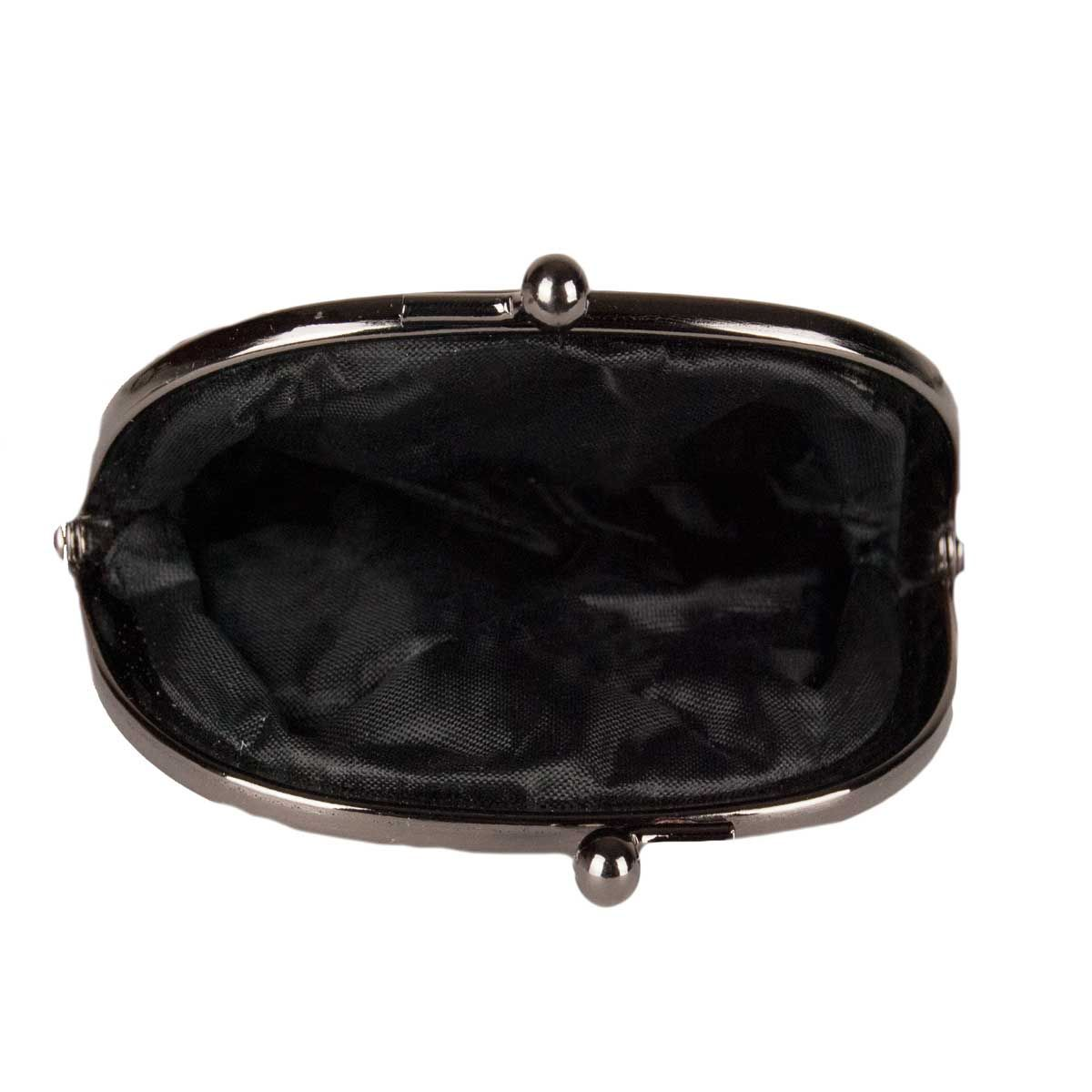 Montevita Leather Purse in Grey