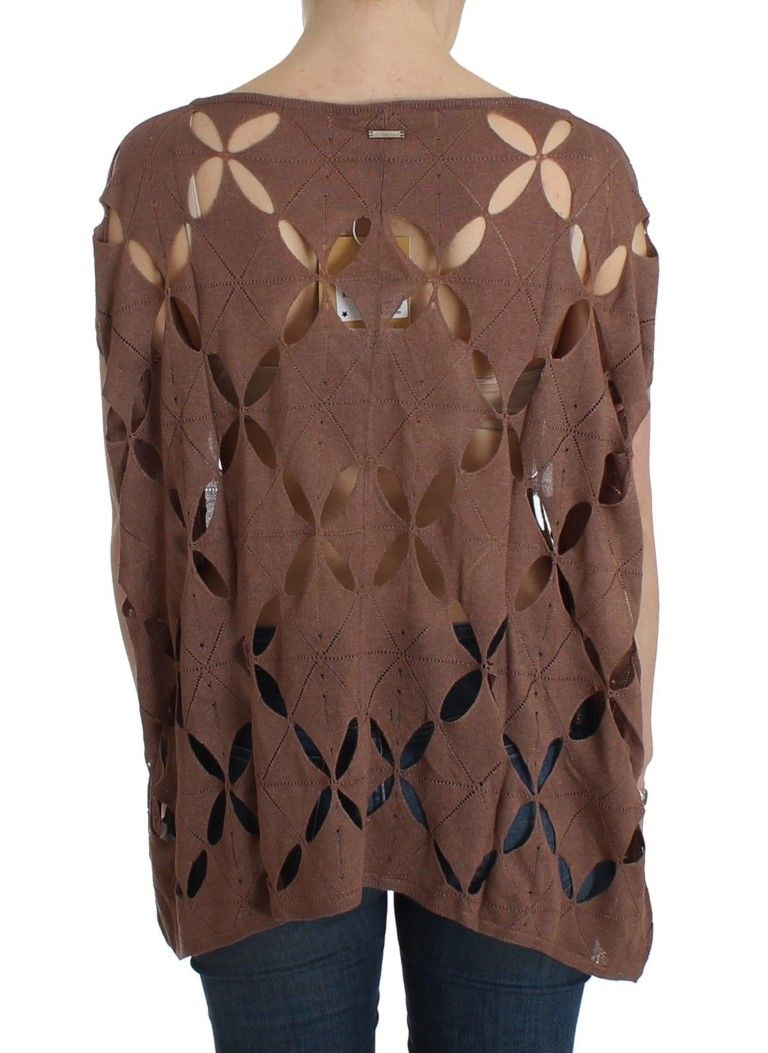 Galliano Brown short sleeved knit