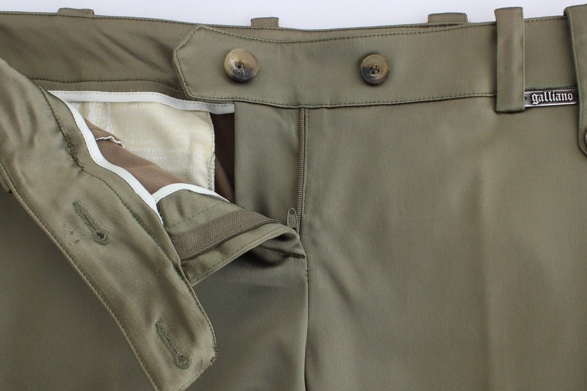 Galliano Green Slim Fit Pants