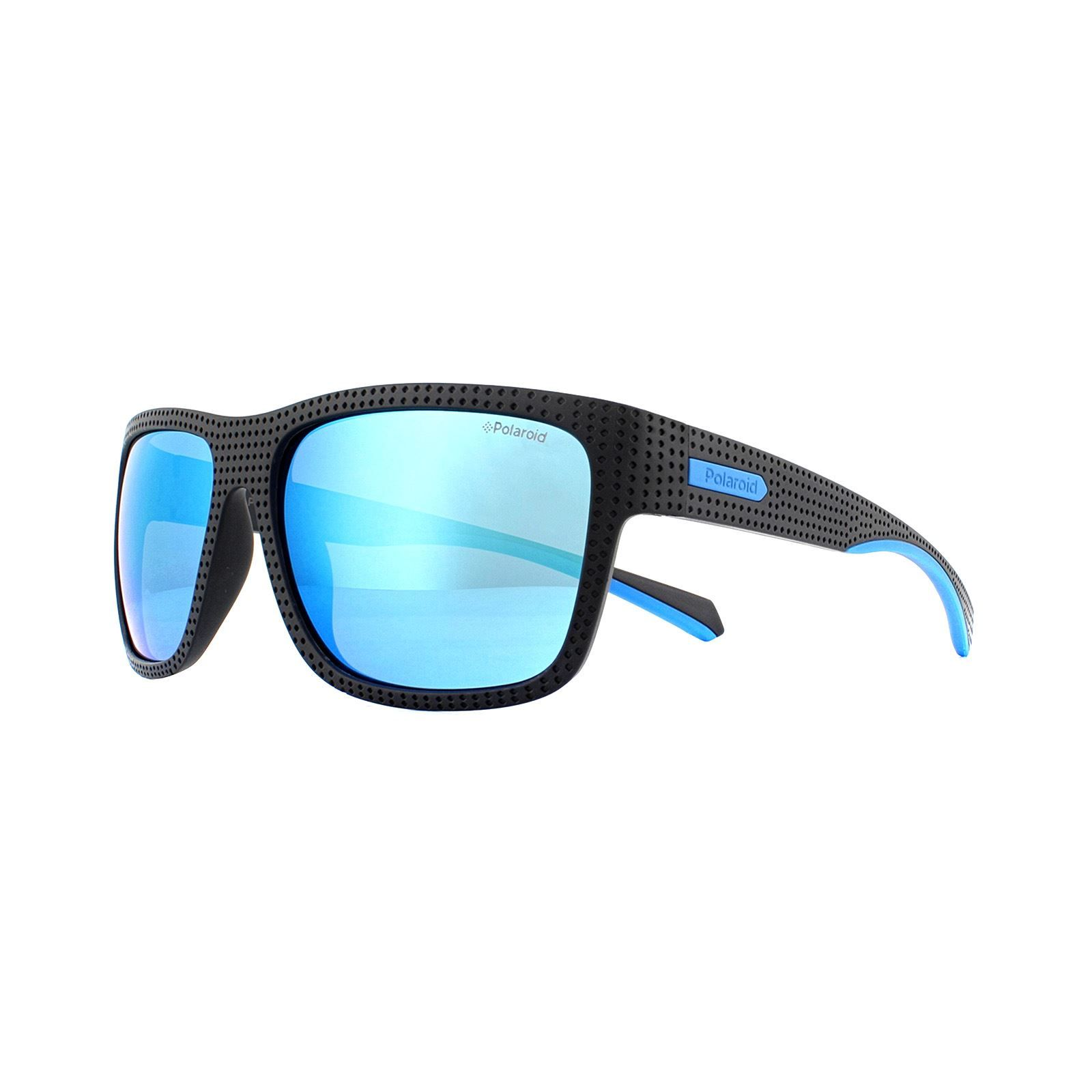 Polaroid Sport Sunglasses 7025/S EL9 5X Black Blue Mirror Polarized