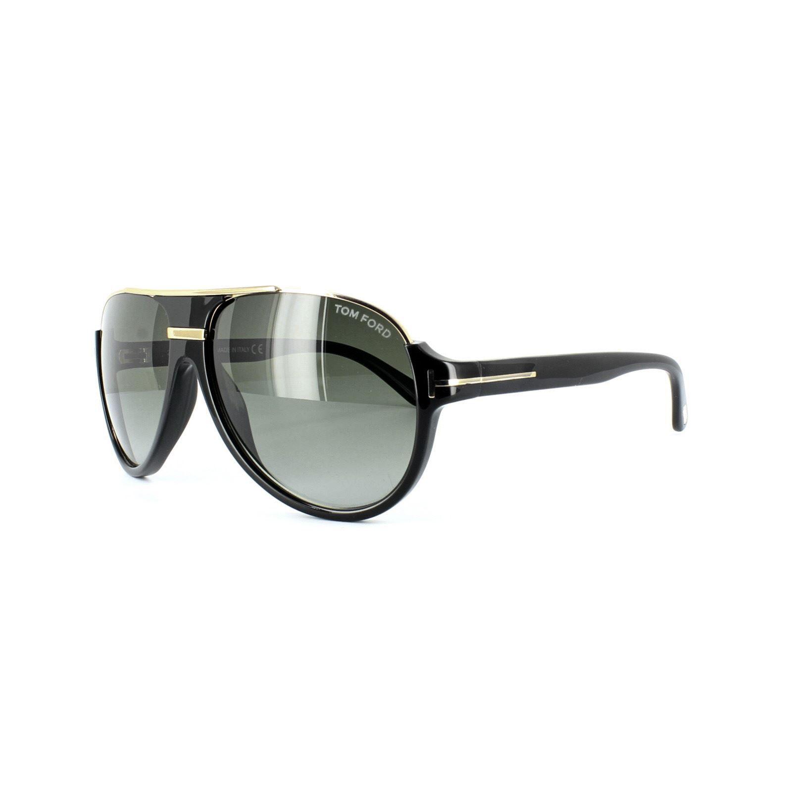 Tom Ford Sunglasses 0334 Dimitry 01P Shiny Black Green Gradient