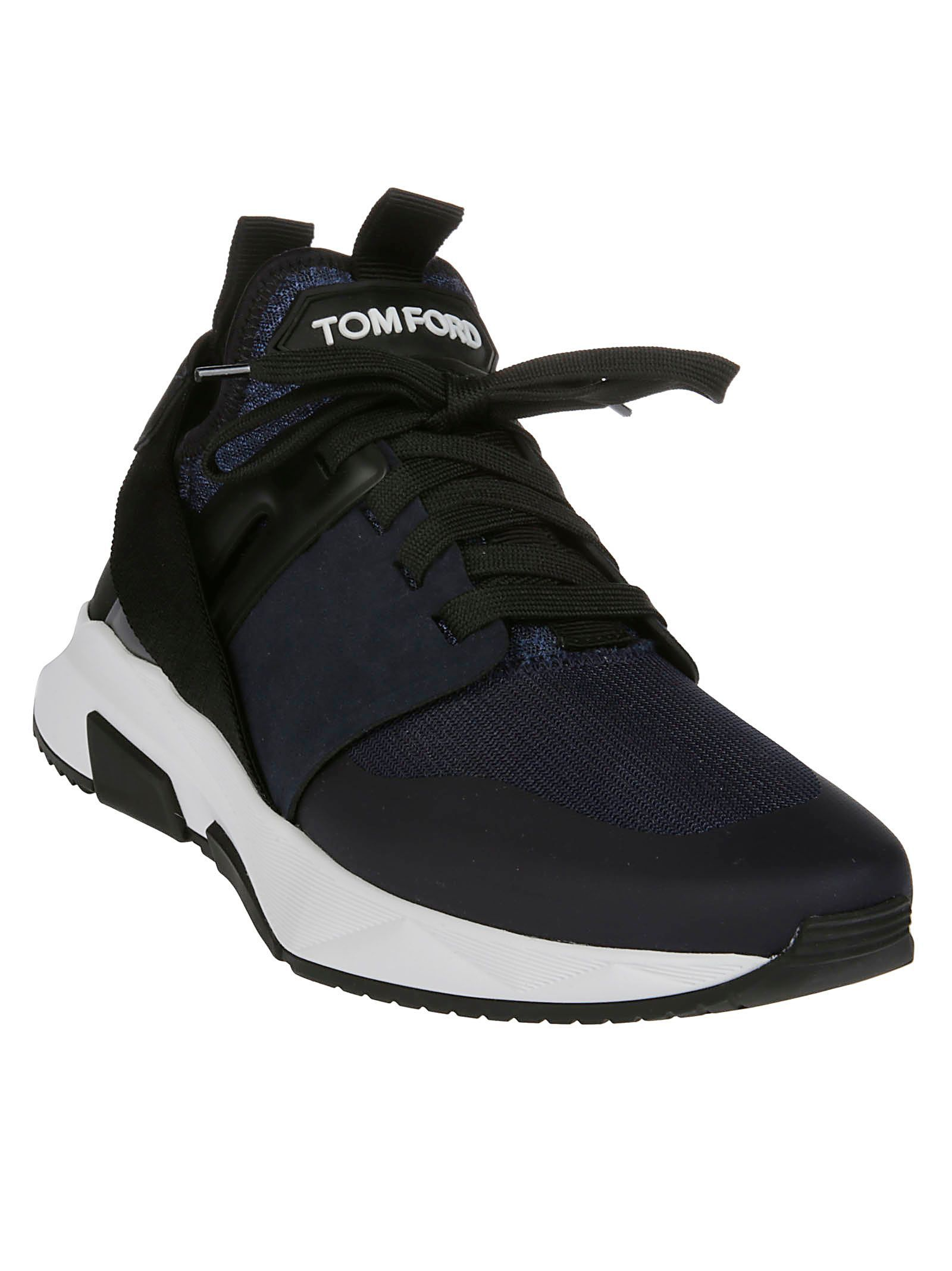 TOM FORD MEN'S J1100TTOF001U5006 BLACK POLYESTER SNEAKERS