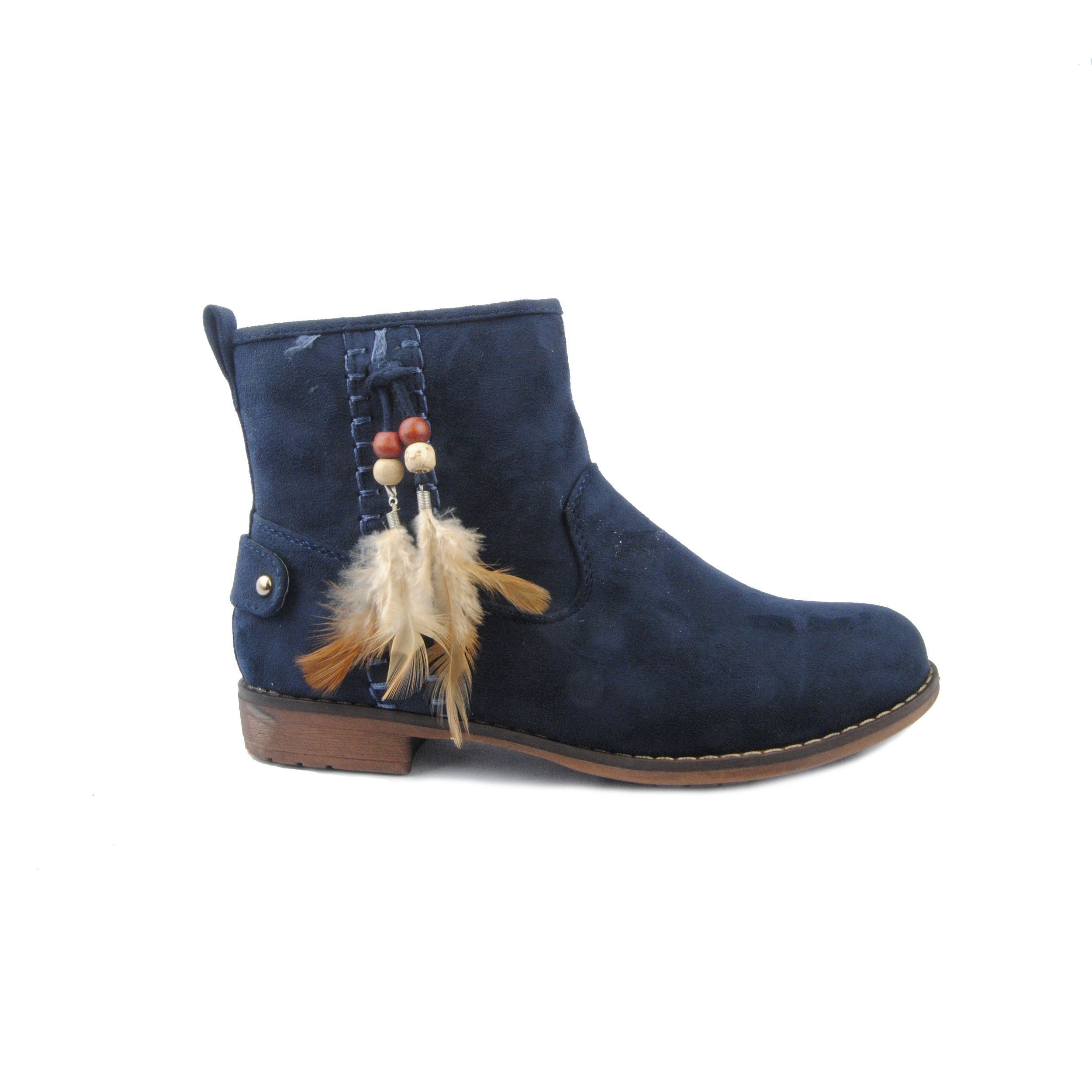 Montevita Feather Ankle Boot in Blue