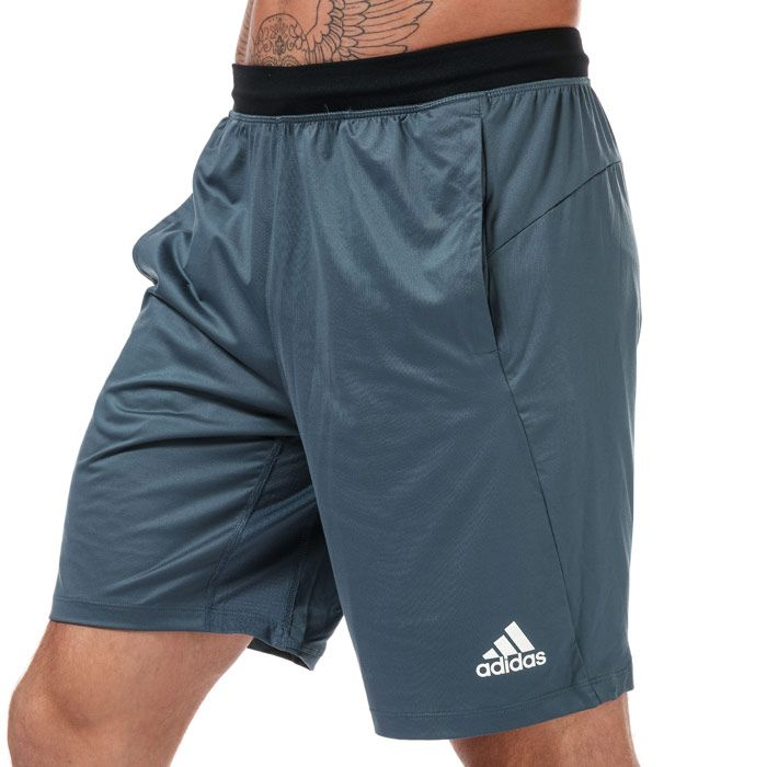 Men's adidas 4krft sport ultimate 9-inch knit shorts in blue