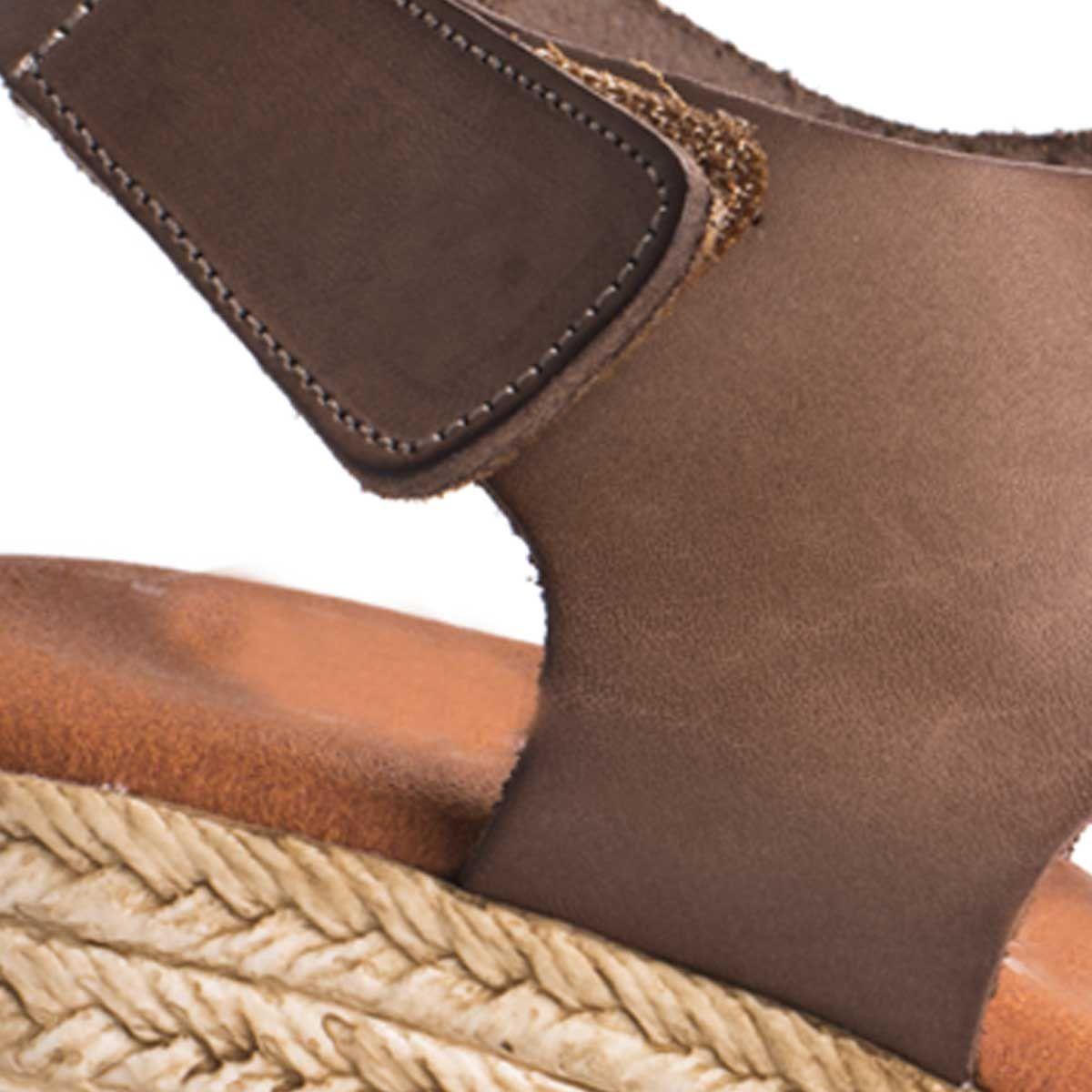 Montevita Platform Sandal in Taupe