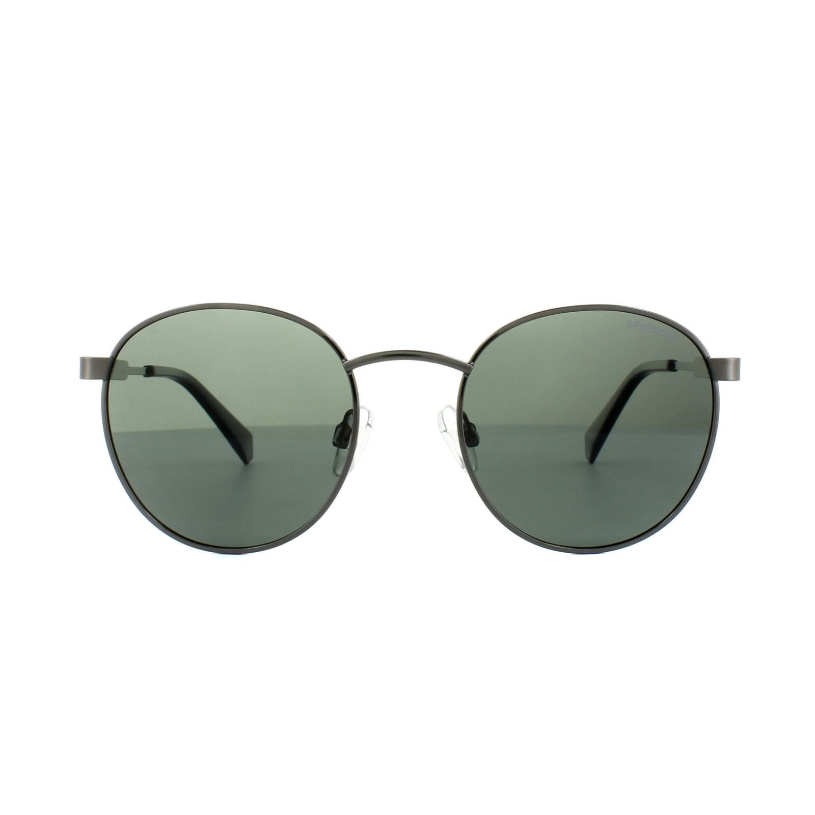 Polaroid Sunglasses PLD 2053/S KJ1 UC Dark Ruthenium Green Polarized
