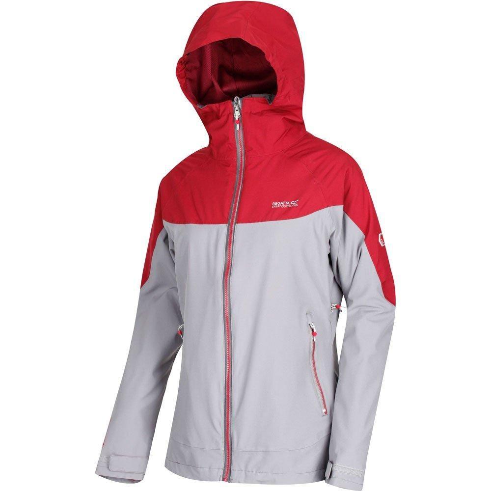 Regatta Womens/Ladies Wentwood III Hooded Jacket (Rock Grey/Tibetan Red)