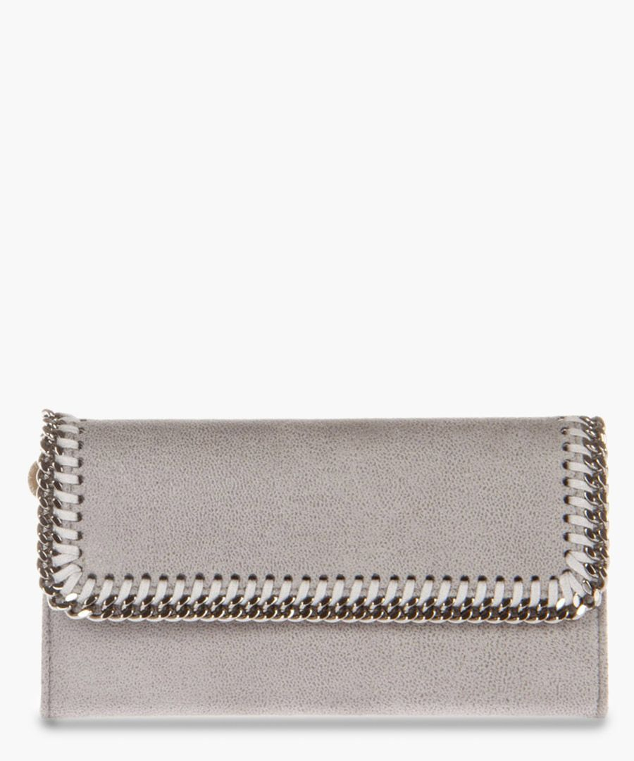 Falabella light grey chain purse