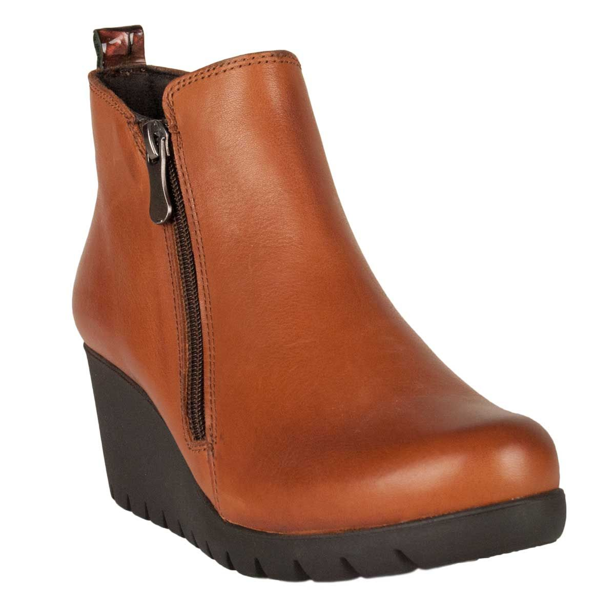 Montevita Wedge Ankle Boot in Brown
