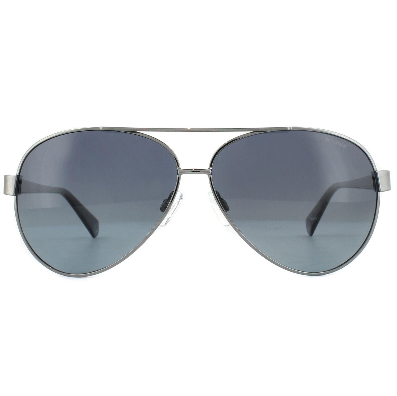 Polaroid Sunglasses PLD 4061/S 6LB WJ Aviator Ruthenium Grey Gradient Polarized