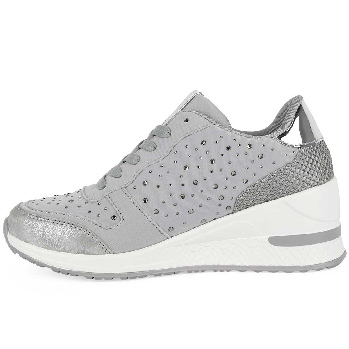 Montevita Sporty Wedge Sneaker in Silver