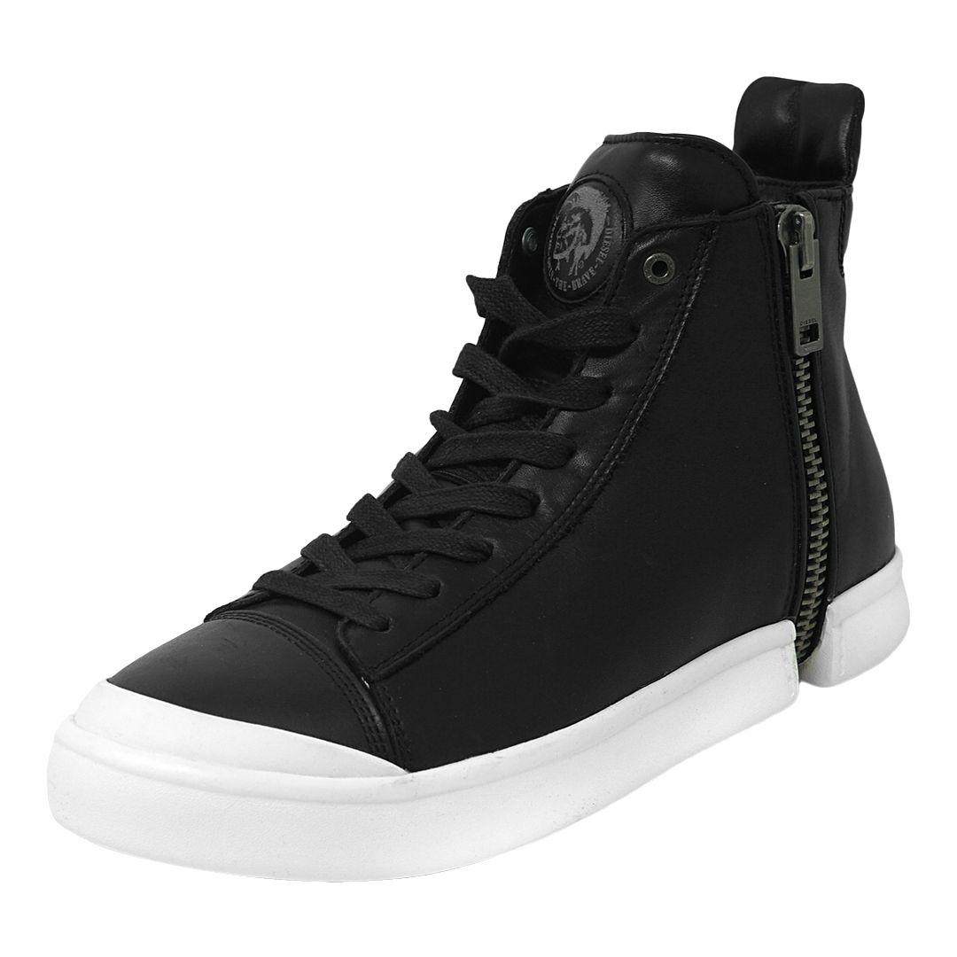 Diesel S-NENTISH Zip Around Sneakers in Black