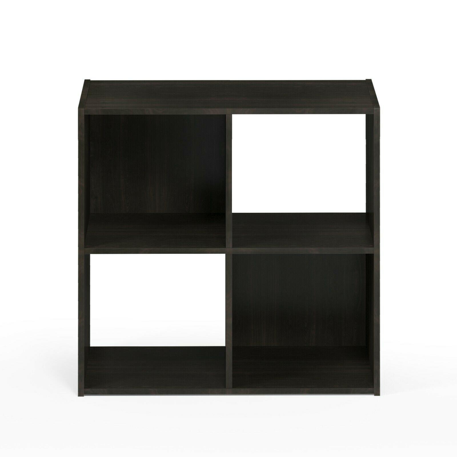 Furinno Pelli Cubic Storage Cabinet, 2x2, Espresso