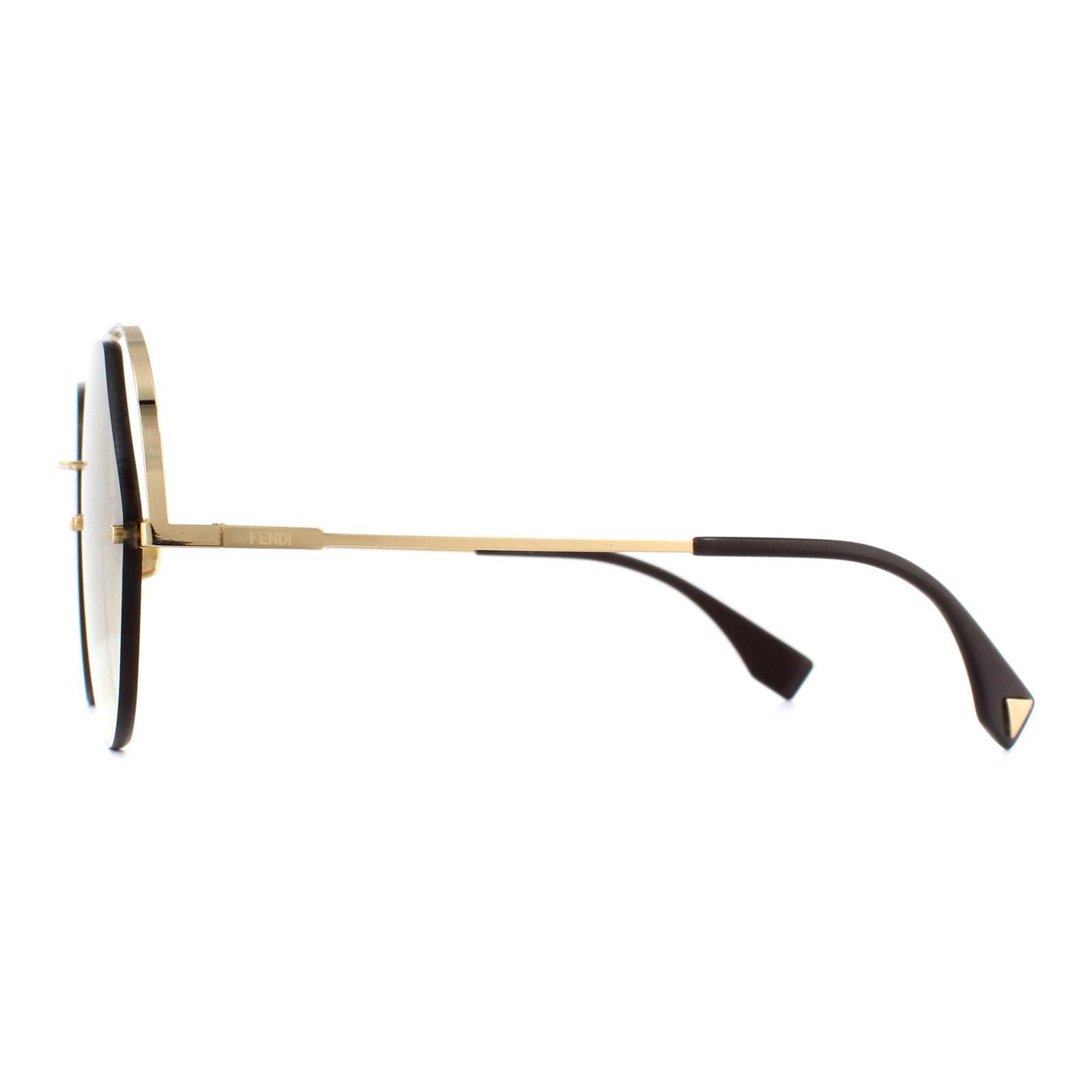 Fendi Sunglasses FF 0326/S 09Q HA Gold Brown Gradient
