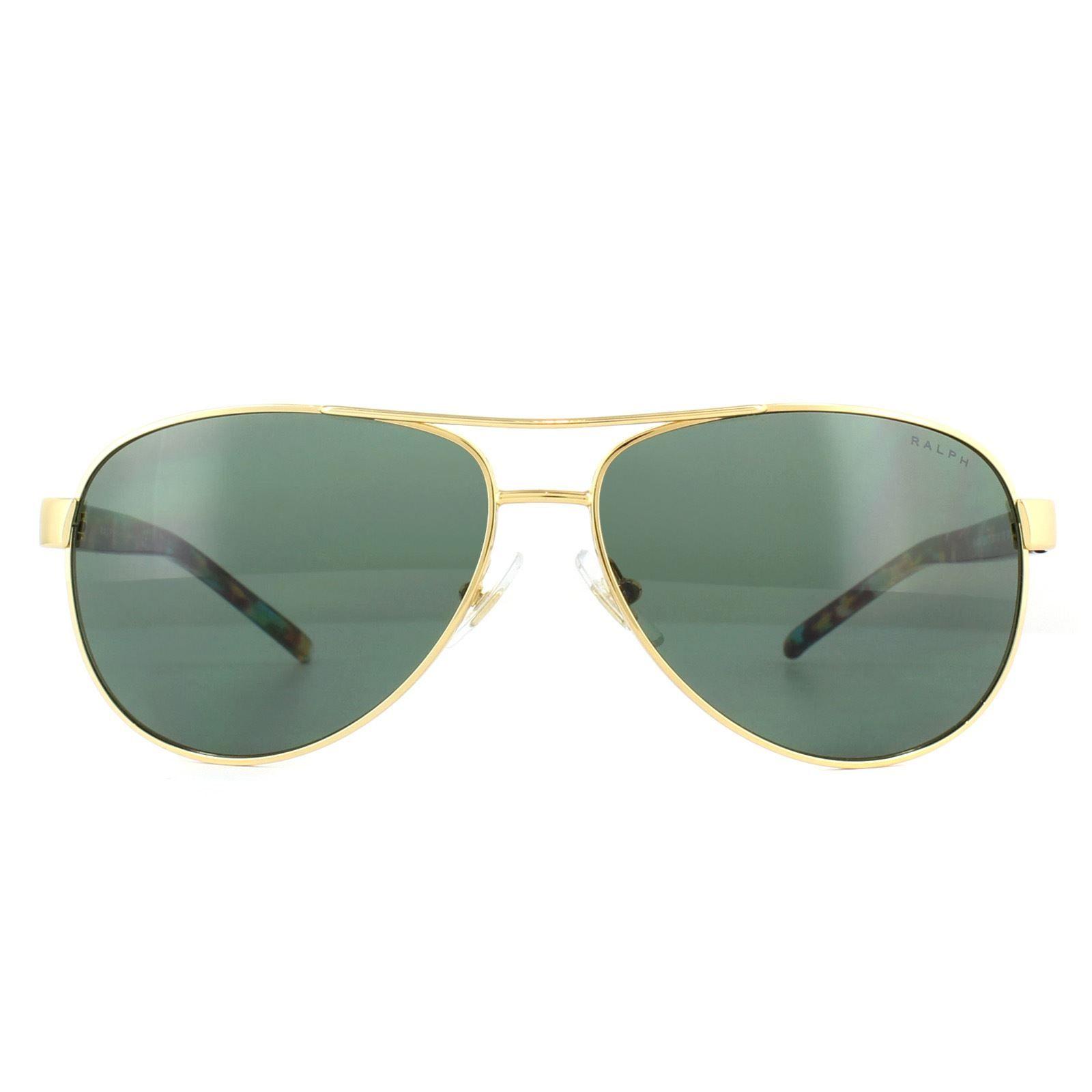 Ralph by Ralph Lauren Sunglasses 4004 900471 Gold Coloured Havana Green