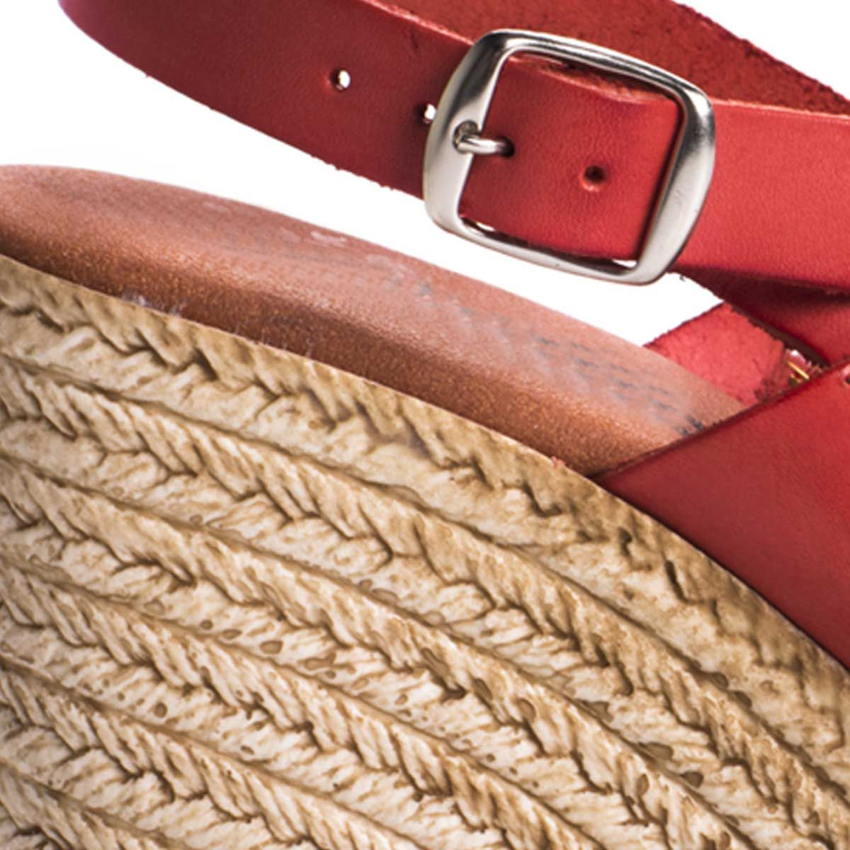 Montevita Platform Sandal in Red