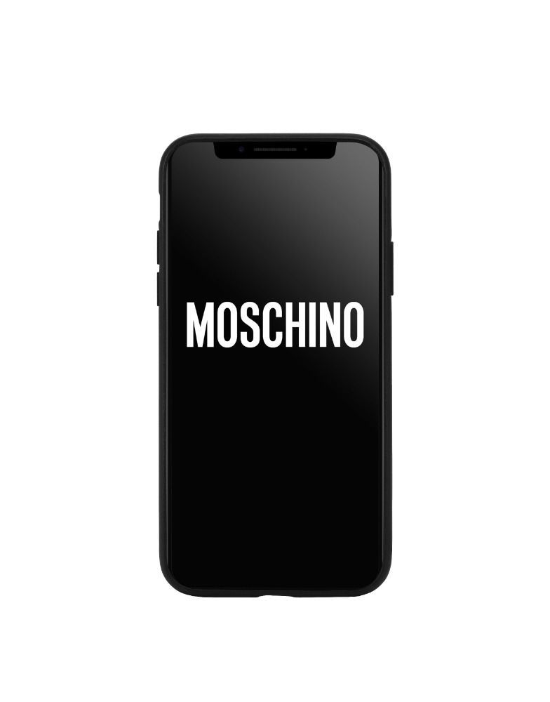 MOSCHINO WOMEN'S A791383121555 BLACK PVC COVER