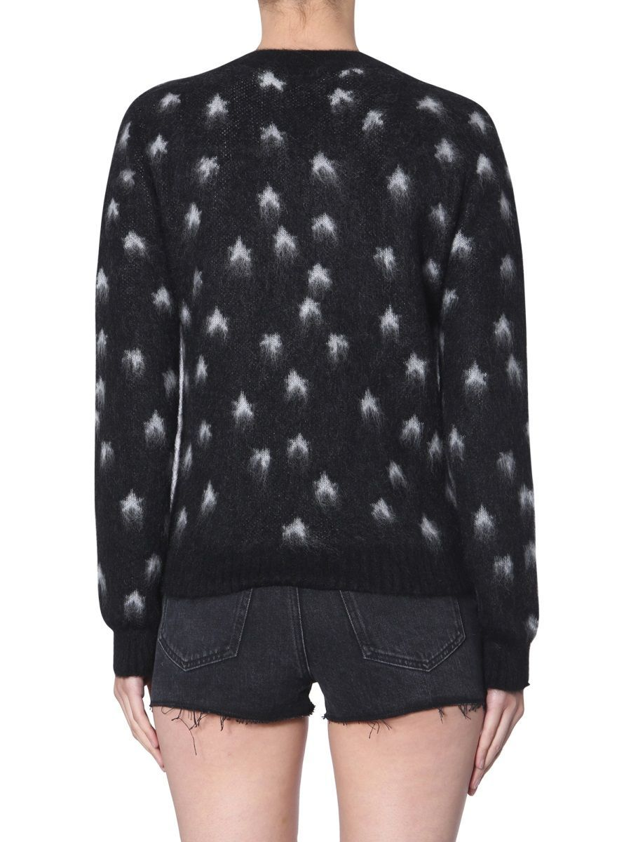 SAINT LAURENT WOMEN'S 577716YAGM21095 BLACK WOOL SWEATER