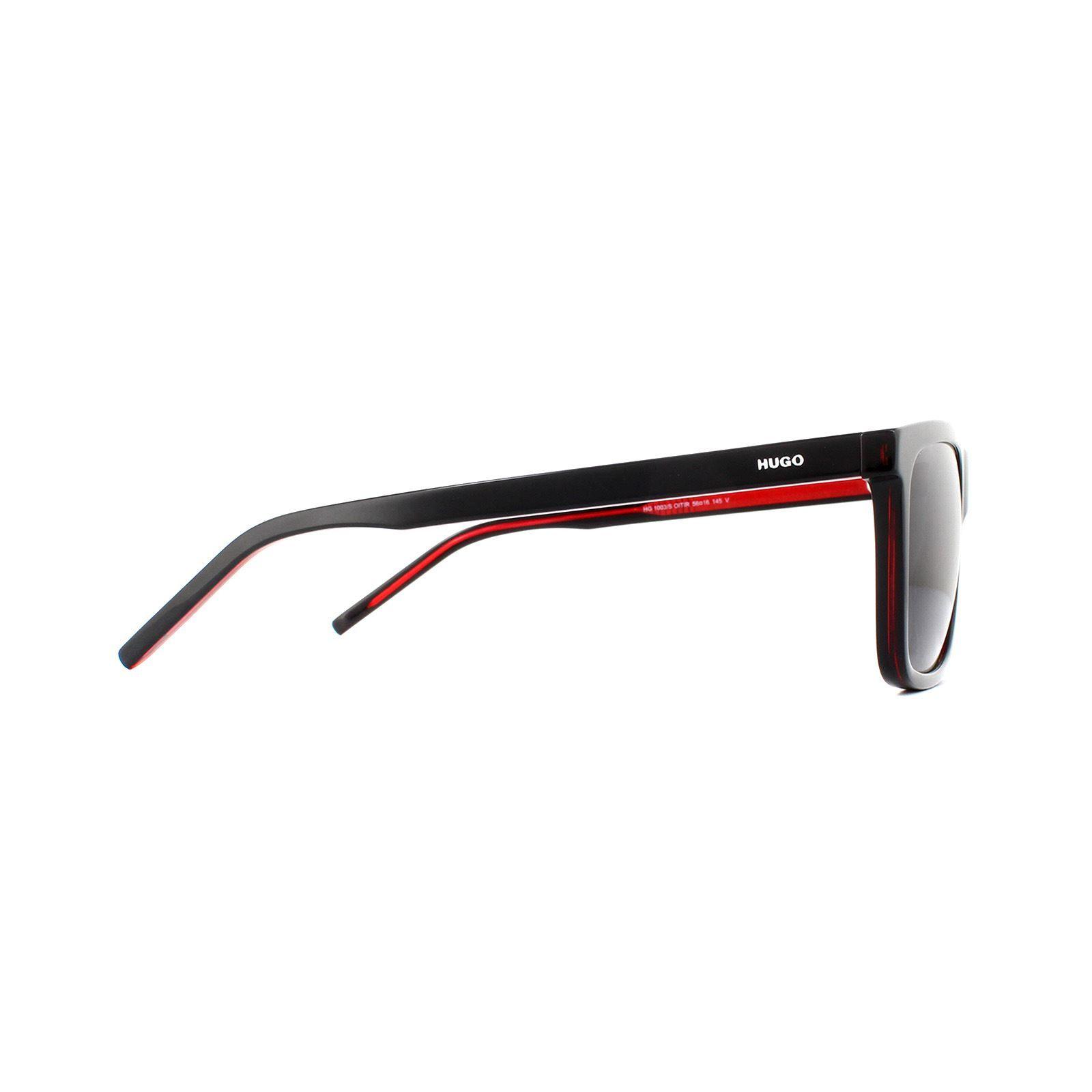 Hugo by Hugo Boss Sunglasses HG 1003/S OIT IR Black Red Grey