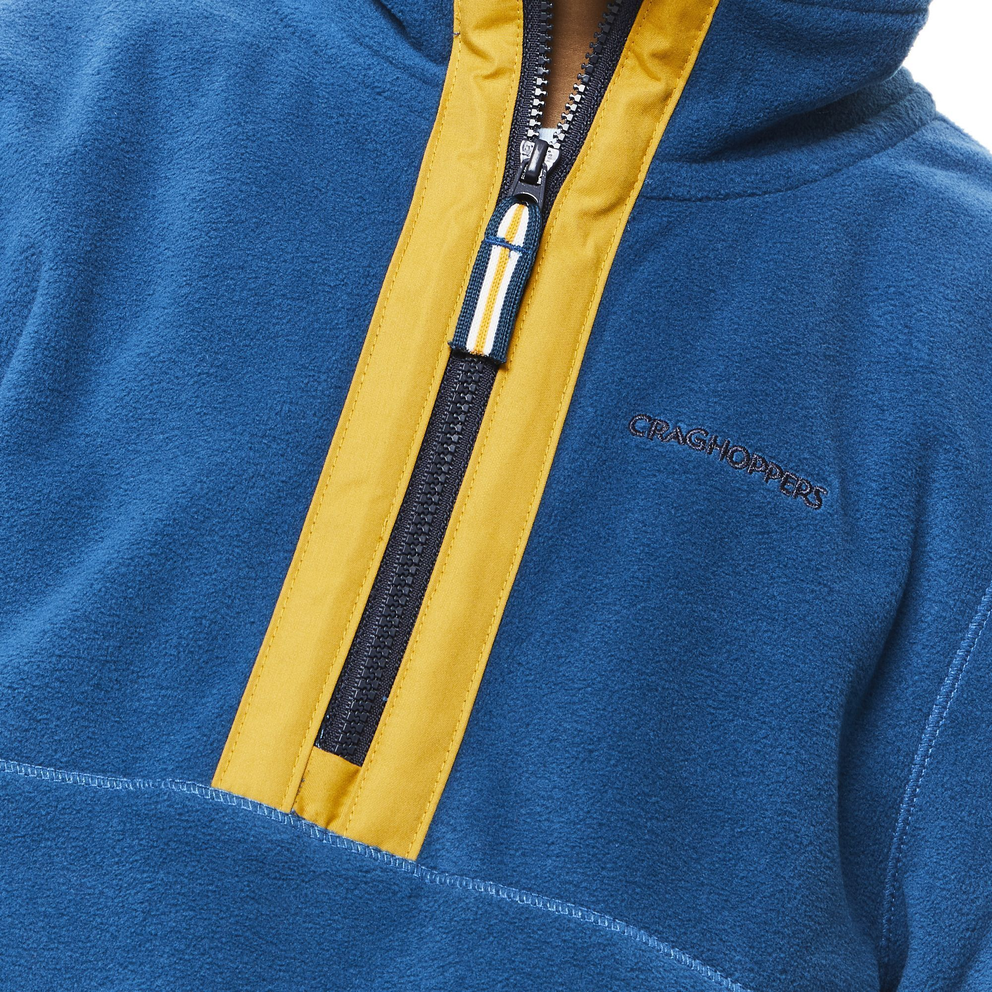 Craghoppers Boys Norcross Half Zip Fleece Top (Poseidon Blue)