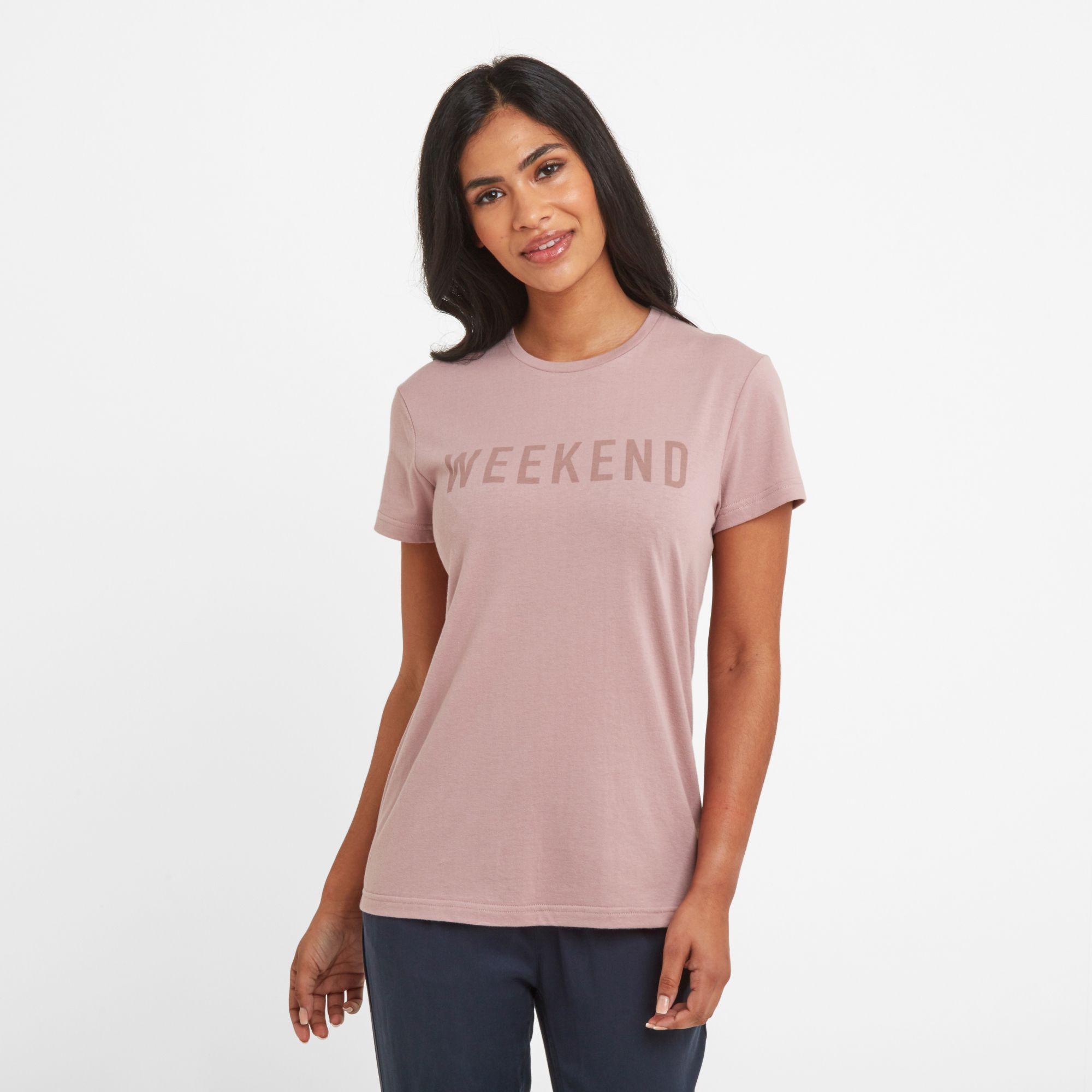 Dakota Womens T-Shirt Faded Pink