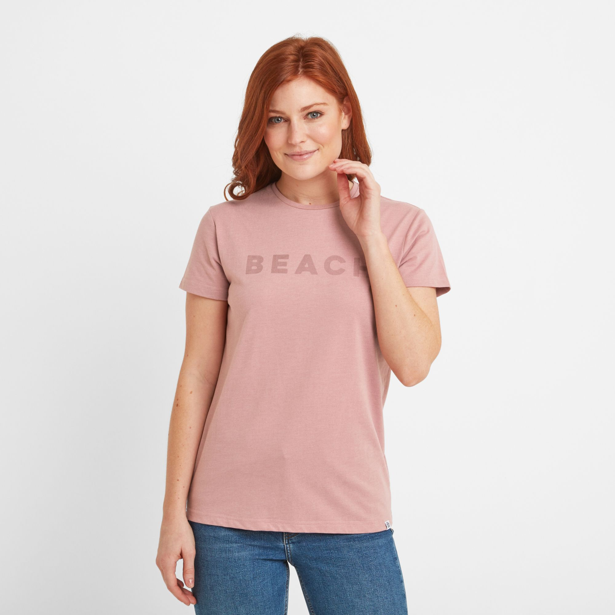 Esther Womens T-Shirt Faded Pink