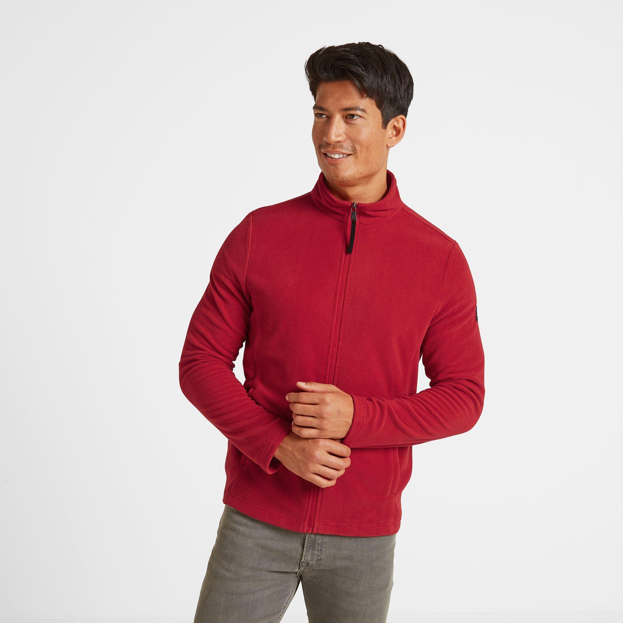 Shire Mens Fleece Jacket Chilli Red