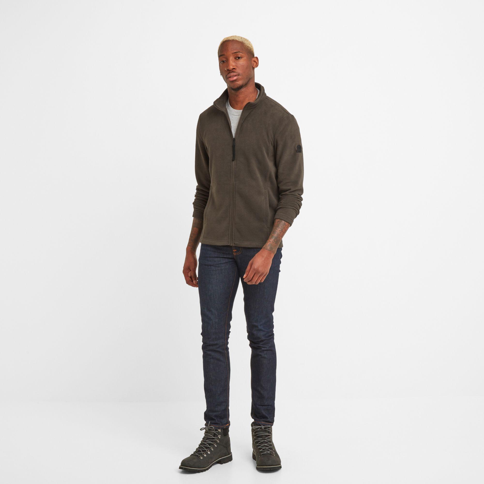 Shire Mens Fleece Jacket Dark Khaki