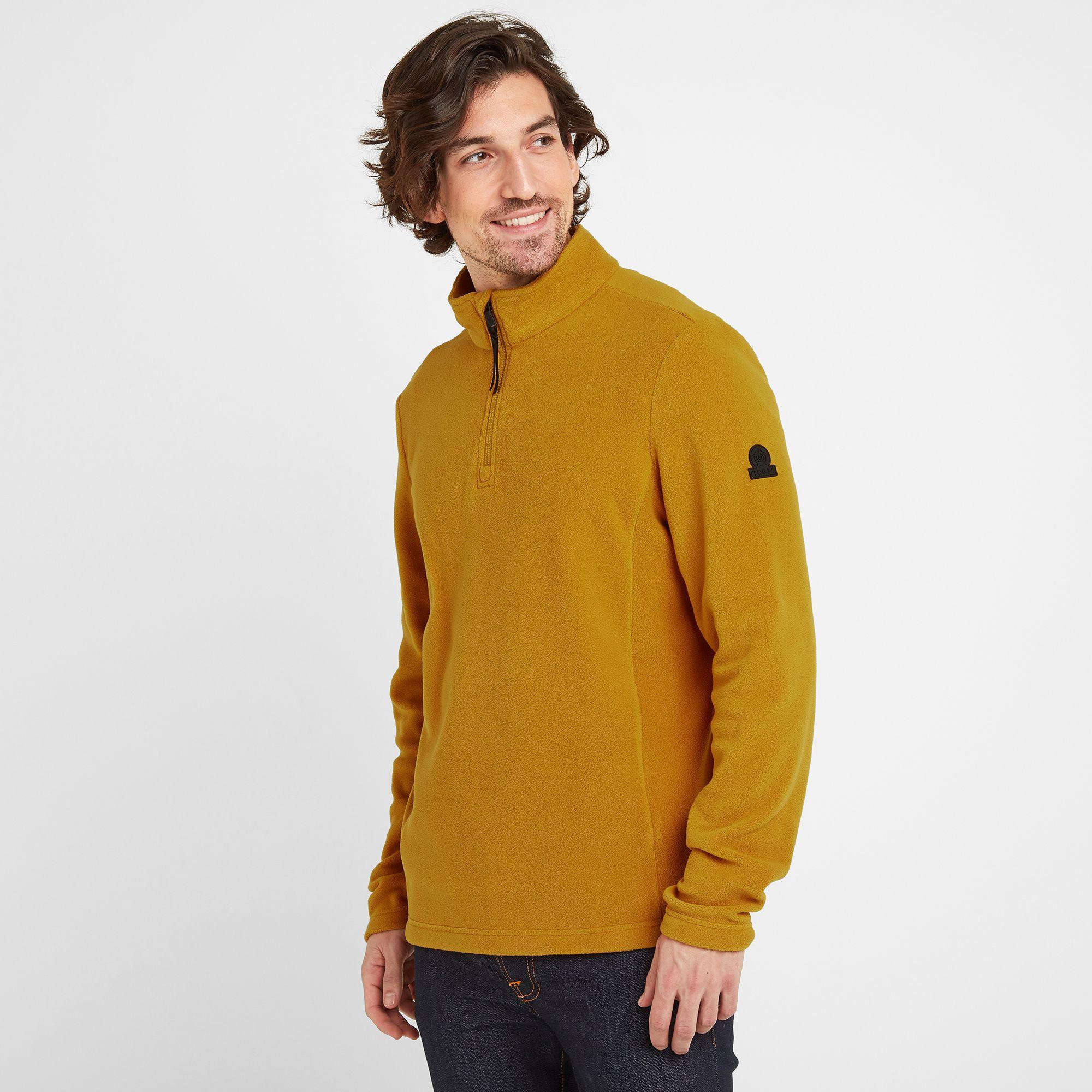 Shire Mens Fleece Zipneck Mustard