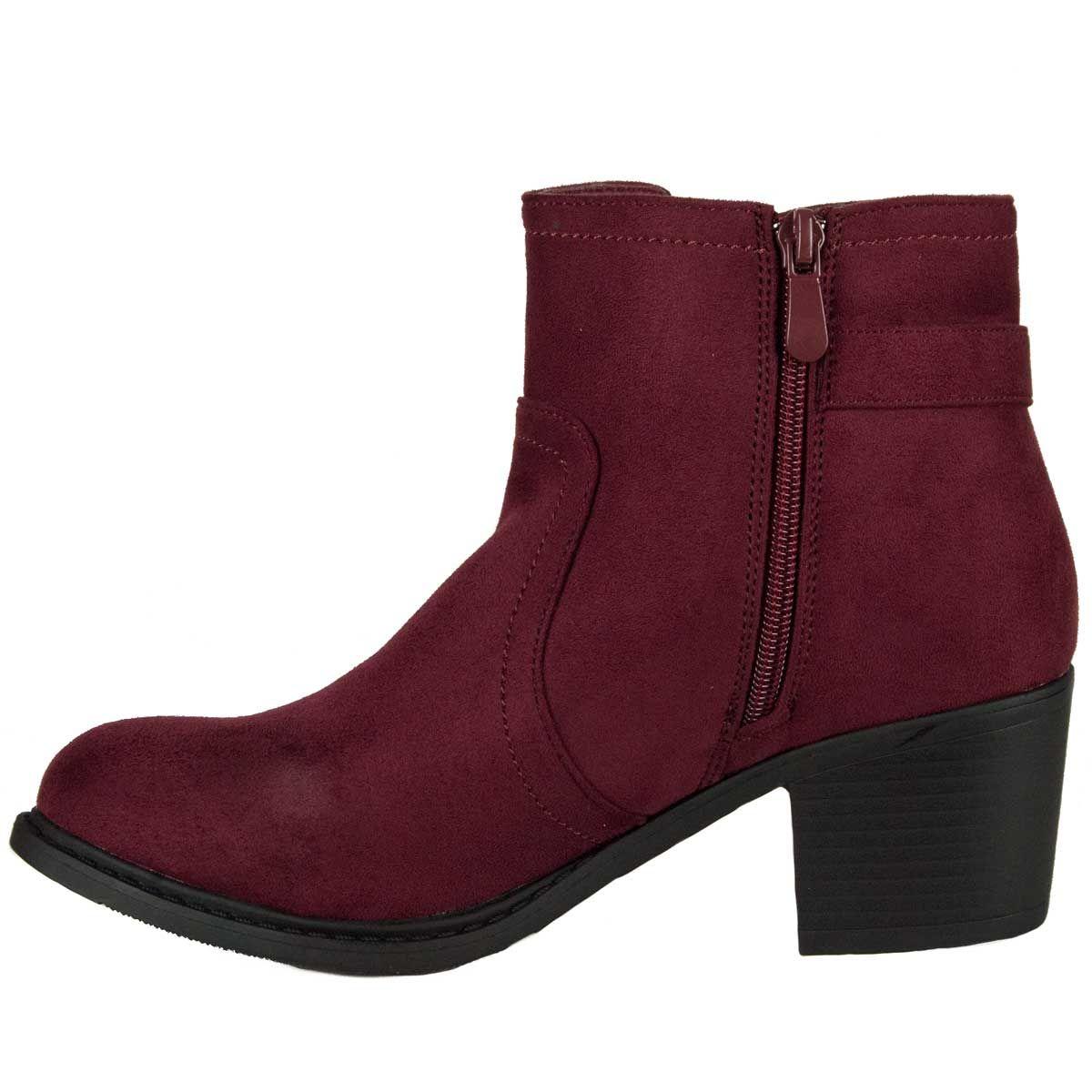 Montevita Buckle Ankle Boot in Bordo