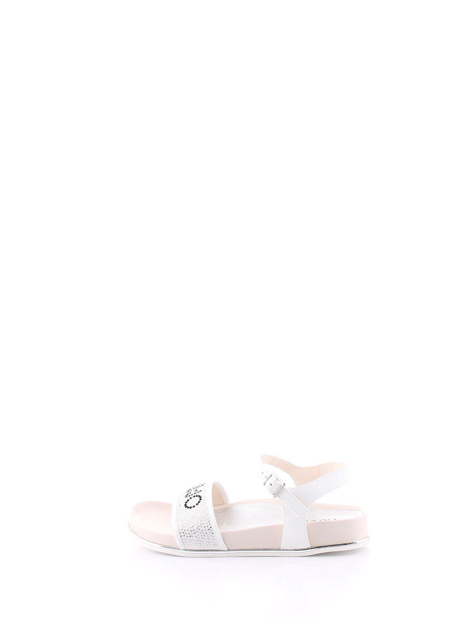 LIU JO WOMEN'S 4A0777EX014S1400 WHITE SYNTHETIC FIBERS SANDALS