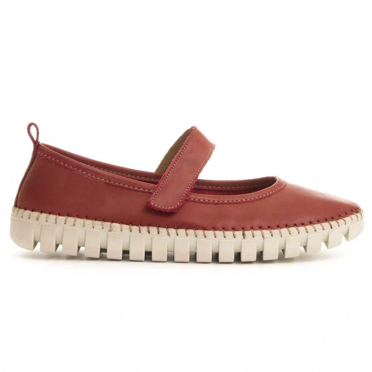 Purapiel Comfortable Sneaker in Red