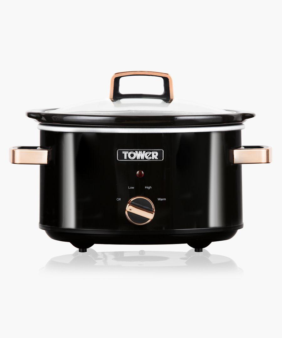 Black slow cooker 3.5L
