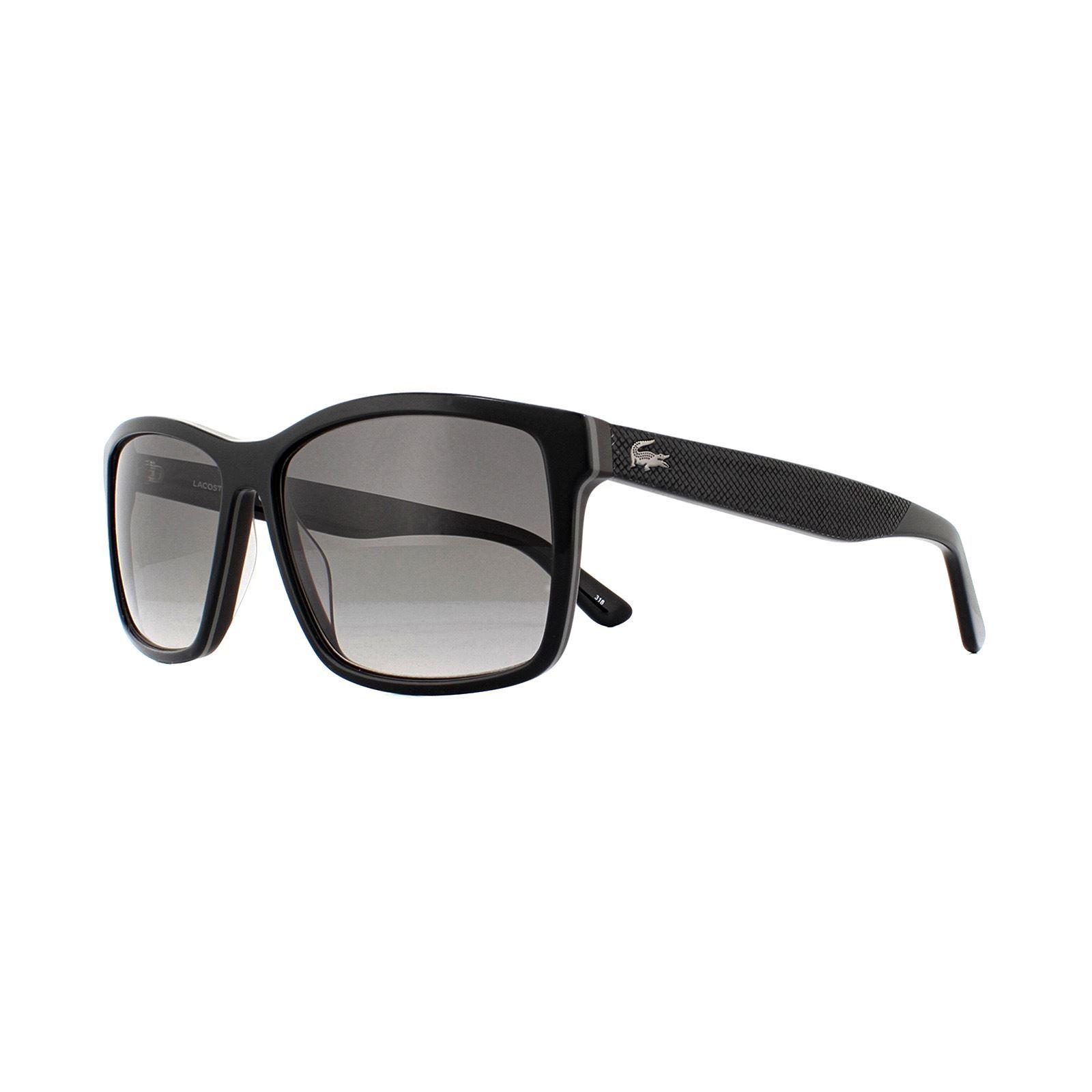 Lacoste Sunglasses L705S 001 Black Brown Violet Gradient