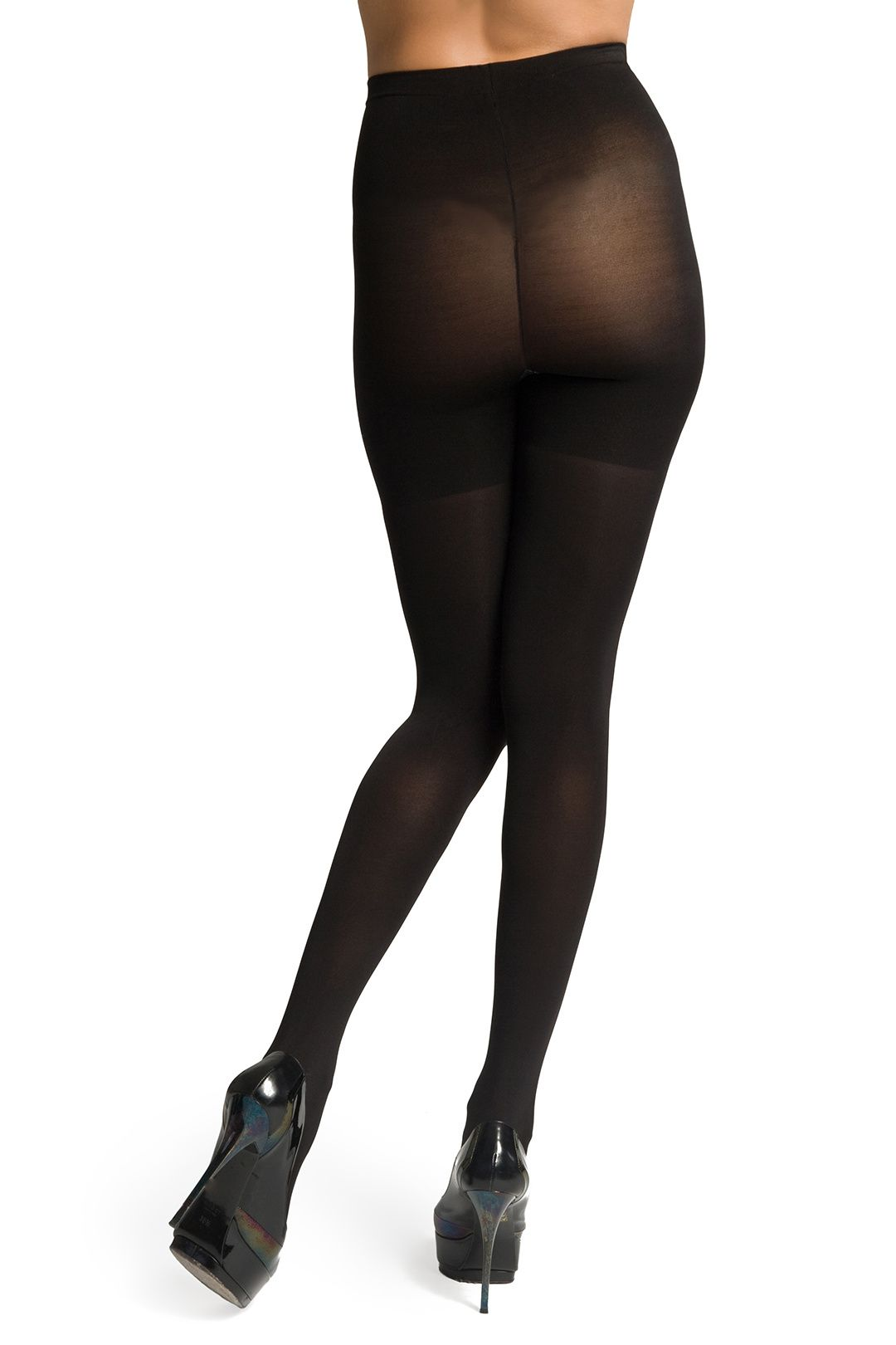 Spanx NEW Black Opaque Women's Size B Tight End Bodyshaping Slimming Tights #028