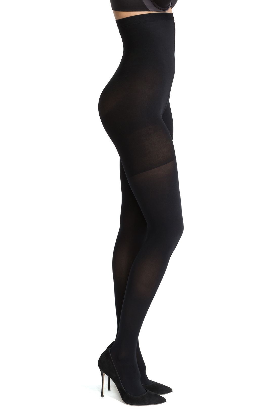 Spanx NEW Very Black Women's Size D High Waist Shaping Luxe Leg Tights