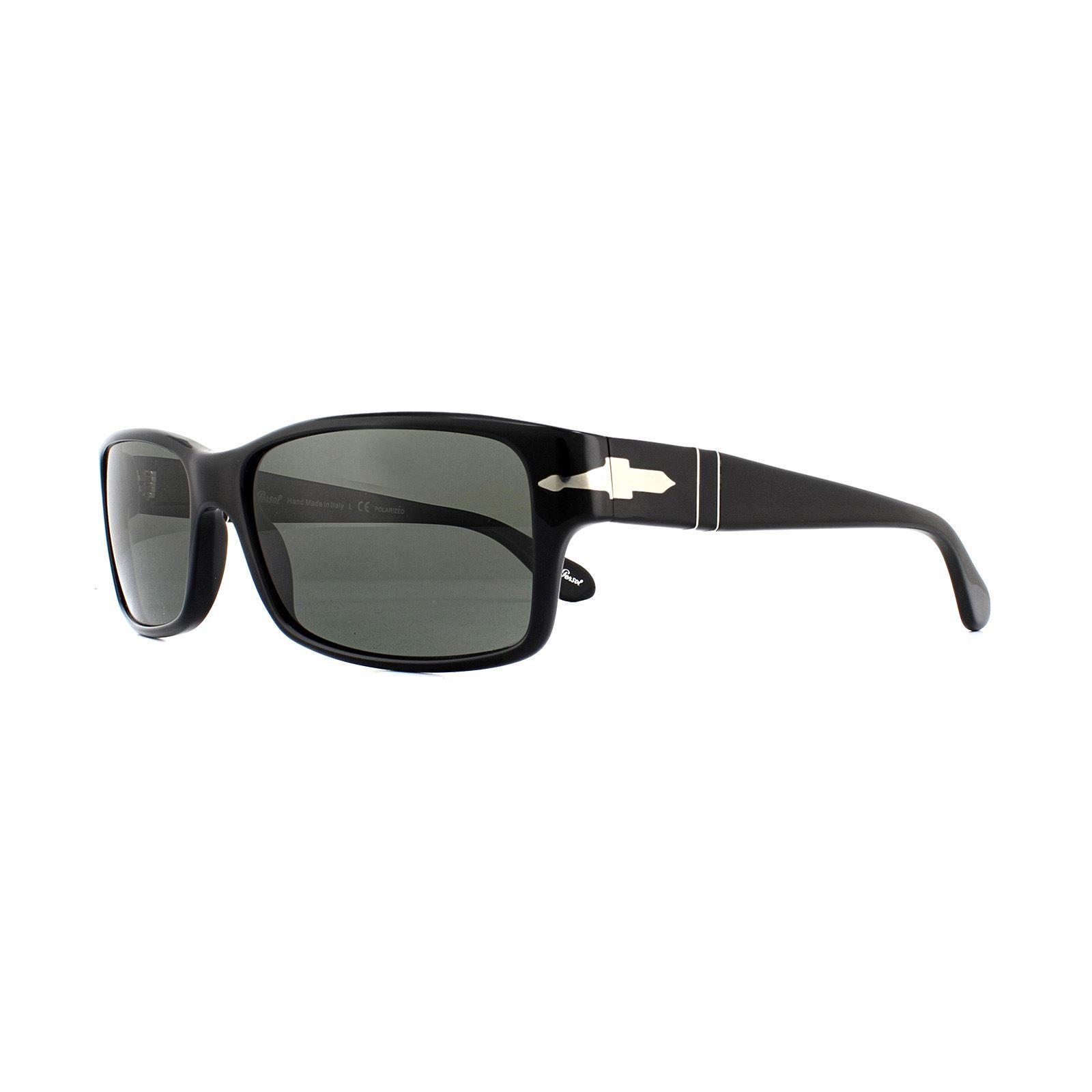 Persol Sunglasses 2803S 95/58 Black Green Polarized