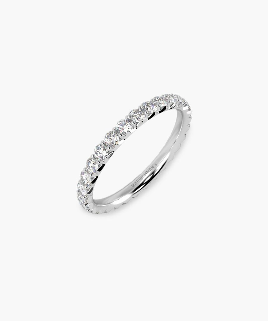 18k white gold and 1.00ct diamond ring
