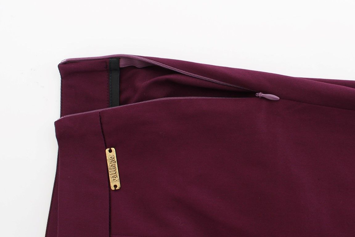 Galliano Purple slim fit pants